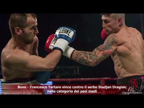 Boxe - Francesco Tartaro vince contro il serbo Sladjan Dragisic