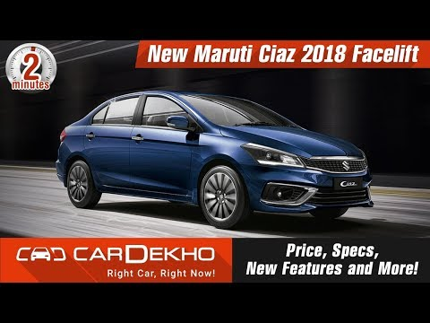New Maruti Ciaz 2018 Facelift | Price, Specs, New Features And More! | #In2Mins