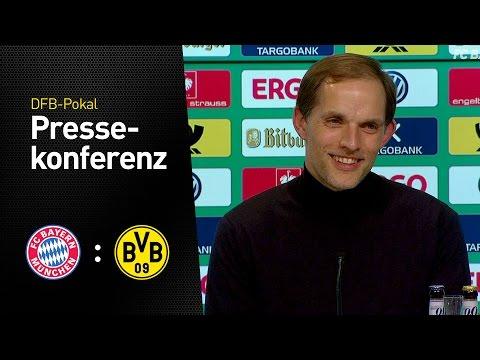 Fussball: FC Bayern München - BVB 2:3 | Pressekonfe ...