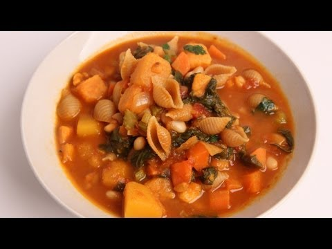 Winter Minestrone Soup Recipe - Laura Vitale - Laura in the Kitchen Episode 332