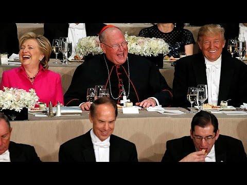 Βιτριολικό χιούμορ Κλίντον- Τραμπ σε φιλανθρωπικό δείπνο