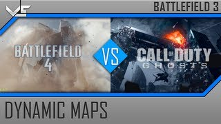 Battlefield 4 Vs Call Of Duty Ghosts - Dynamic Maps: Free Fall, Siege Of Shanghai (BF4 Vs COD)