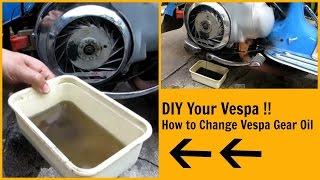 5. How to change Vespa Gear Oil / All Vintage Frame