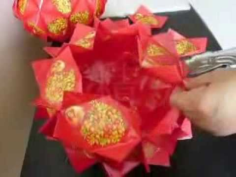 好运橘   红包制作  DIY  Good Luck Orange from red packets