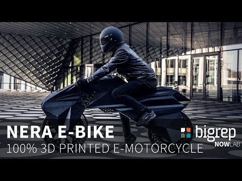 World-First Fully 3D Printed e-Motorcycle