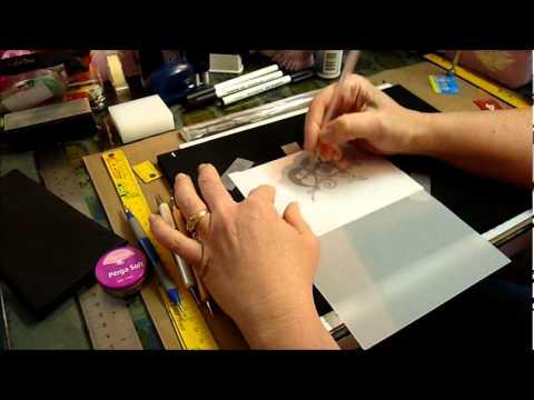 pergamano - ma petite technique pour faire de l'embossage sur papier parchemin pergamano.