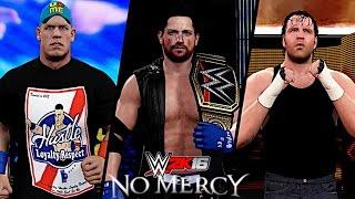 WWE No Mercy 2016: AJ Styles vs John Cena vs Dean Ambrose (WWE World Championship)