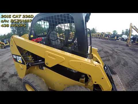 CATERPILLAR MINICARGADORAS 236D equipment video s4wKUV1eyTU