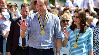 Ganz bürgerlich ungezwungen haben Prinz William und Kate jeweils in einem deutsch-britischen Ruder-Achter auf dem Neckar...