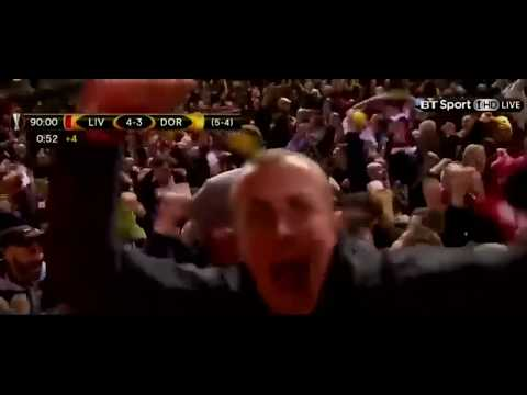 Liverpool's Late Winner Against Dortmund With The Titanic Music.