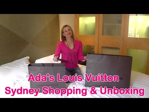 Ada's Louis Vuitton Shopping and Unboxing while on holidays in Sydney