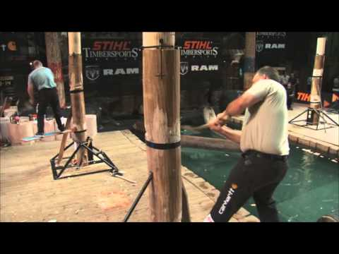 springboard - Check out never-before-scene footage of the springboard chop from the STIHL TIMBERSPORTS US Championship hosted by the Lumberjack Feud.
