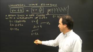 Wave Introduction Universal Wave Equation Sample Problem V=f*Lambda