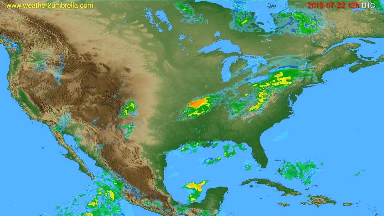 Radar forecast USA & Canada // modelrun: 00h UTC 2019-07-22