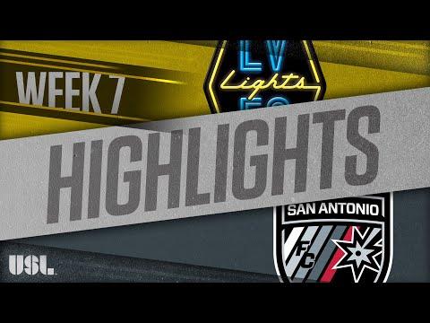 Las Vegas Lights - Сан-Антонио 1:3. Видеообзор матча 28.04.2018. Видео голов и опасных моментов игры