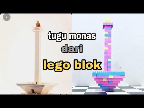 Cara membuat tugu MONAS dari lego blok