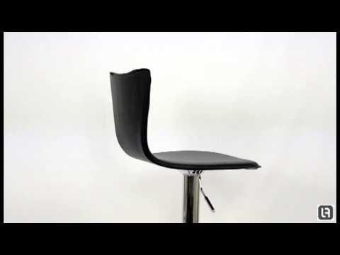Arne Jacobson Series 7 Black Bar Stool