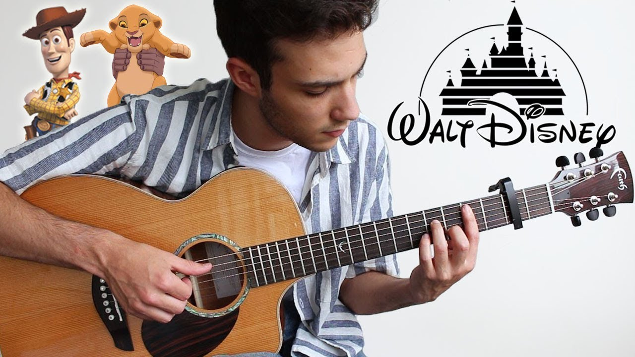 5 DISNEY Songs to play on Guitar (FINGERSTYLE)