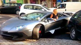 Video Girl Driving Skills | Lamborghini Aventador vs Truck TIR !!! MP3, 3GP, MP4, WEBM, AVI, FLV Oktober 2017