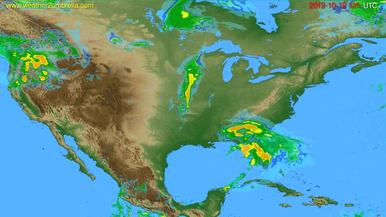 Radar forecast USA & Canada // modelrun: 00h UTC 2019-10-19