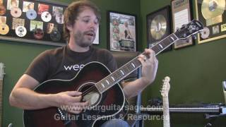 Guitar Lessons Acoustic - Banana Pancakes by Jack Johnson - cover chords beginner lessons tutorial