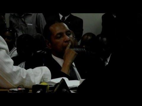 Haiti's Duvalier appears at court hearing