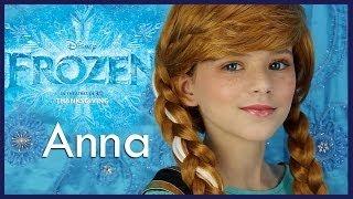 Disney's FROZEN Anna Makeup Tutorial | KITTIESMAMA - YouTube