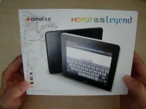 Ainol Novo 7 Legend Android 4.0 512MB RAM DDR3 1GB ROM Unboxing Review