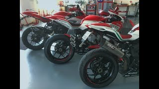 9. 3 Different Exhaust Sound Test ! - MV Agusta F3 675/800 ( 2017 ) - Limited Edition