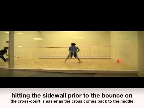 Squash videos free online instruction: Feeding the ball to partner