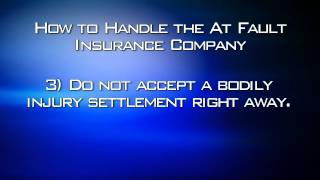 How to handle matters with Insurance Companies after Injury In Colorado