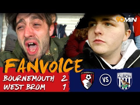 Bournemouth leave it late to beat West Brom 2-1  |  Bournemouth 2-1 West Brom  |  FanVoice