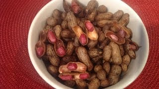 Boiled Groundnut Or How To Cook Fresh Ground Nut Or Peanut Or Kadalai