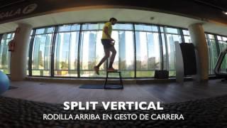Split vertical con rodilla arriba