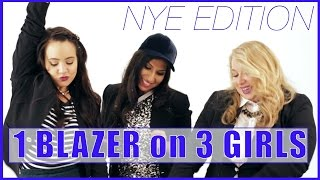 1 Blazer on 3 Girls: NYE PARTY EDITION by Seventeen Magazine