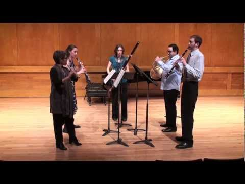 woodwind quintet - Laurie Baefsky- flute; Kendra Hawley- oboe; Chester Howard- clarinet; Rachel Koeth- bassoon; Amr Selim, horn - all doctoral students. Performance was May 5, ...