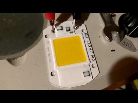 110V 230V AC COB LED module, Warning: High Voltage !
