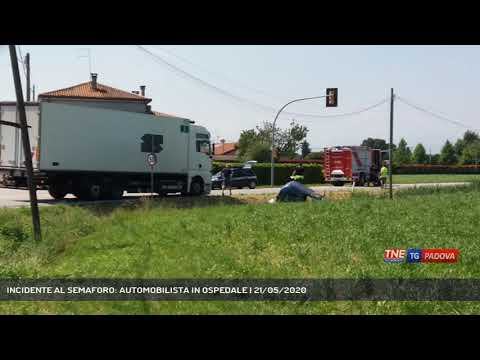 INCIDENTE AL SEMAFORO: AUTOMOBILISTA IN OSPEDALE   21/05/2020