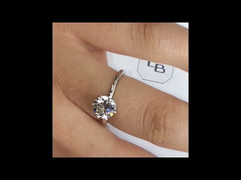 1.50 ct Round Diamond 6-Prong Engagement Ring