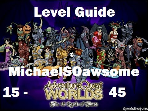 =AQW= how to level up fast from level 15-45 (non member)