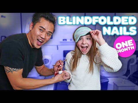 Nail designs - Nail Tech Controls My Acrylic Nails BLINDFOLDED *30 DAY CHALLENGE* Piper Rockelle
