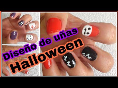 Modelos de uñas - Cómo decorar tus uñas para Halloween // Dos diseños de uñas para Halloween