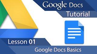 #3 [구글문서] Google Docs - Tutorial 01 - Basics (영문)