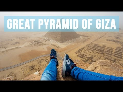 WOW!! This guy climbed one of the Great Pyramids of Giza!