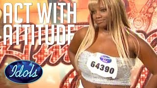 Video AUDITION WITH ATTITUDE! Rhonetta Doesn't Hold Back On American Idol Judges! Idols Global MP3, 3GP, MP4, WEBM, AVI, FLV September 2018