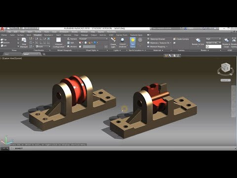 Mechanical Modeling Tutorial In AutoCAD 2018