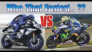 Video Who That Fastest.. ?? VALENTINO ROSSI VS MOTOBOT YAMAHA MP3, 3GP, MP4, WEBM, AVI, FLV November 2017