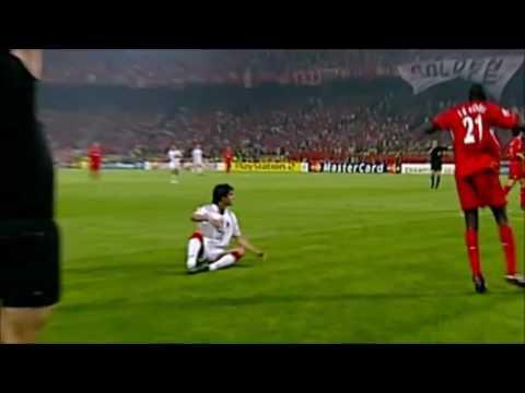 Milan 3–3 Liverpool Maldini 1'    Crespo 39', 44' Gerrard 54' Šmicer Goal 56' Alonso Goal 60'  Penalties  2–3