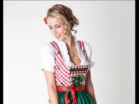 ♥ Wunderschönes Trachten Dirndl-Set rot grün 3-tlg Trachtendirndl für Damen aktuell 2012