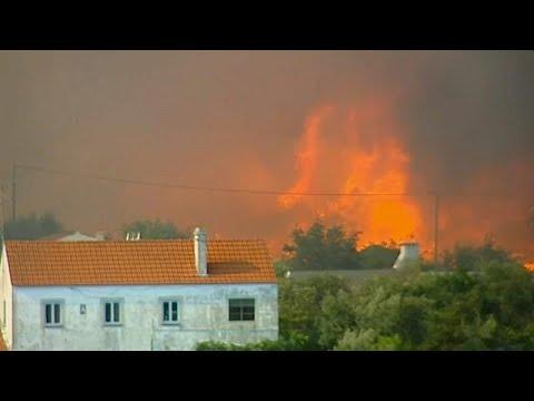 Τρία πύρινα μέτωπα στην κεντρική Πορτογαλία